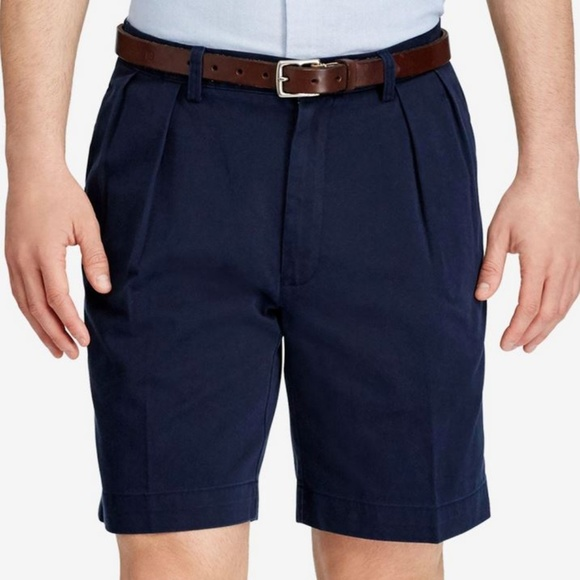 Ralph Lauren Other - Polo Ralph Lauren Pleated NEW Shorts Size 42 Blue
